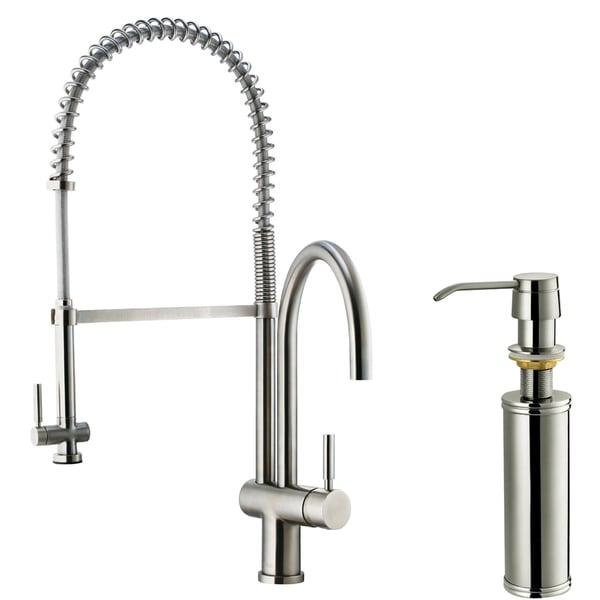 Vigo Stainless Steel  Handle Pre Rinse Kitchen Faucet