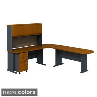 White L Shaped Desk With Frosted Glass 15646566 Overstock Com
