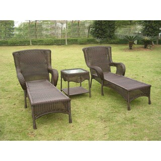 Cosco Lakewood Ranch Steel Woven Wicker Outdoor Chaise