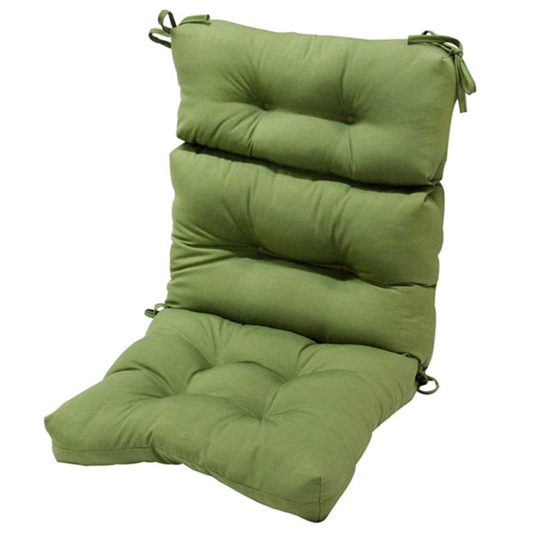 44x22 Inch 3 Section Outdoor Summerside Green High Back