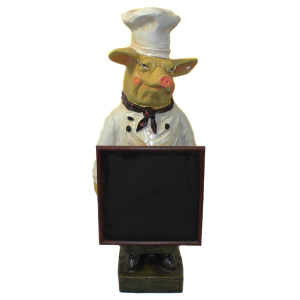 French Chef Pig Menu Chalk Board 13704761 Overstock