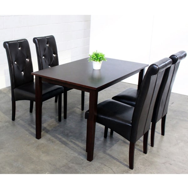 Warehouse Of Tiffany 5-piece Black Dining Room Furniture