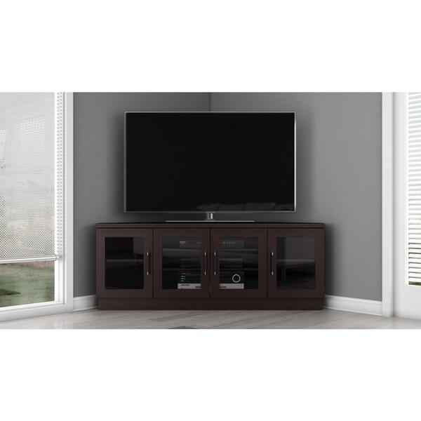 contemporary 60 inch wenge tv and entertainment corner center 13711174. Black Bedroom Furniture Sets. Home Design Ideas