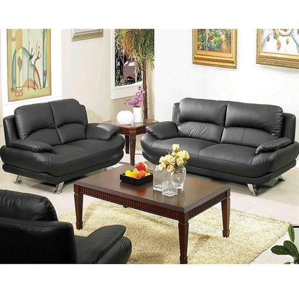 Deals On Sofa Sets: Alice Black Sofa And Loveseat Set