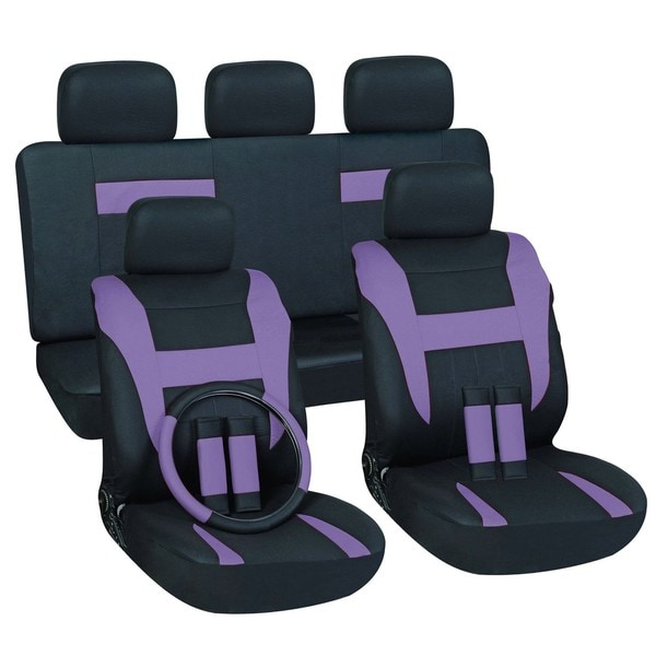 Purple 16 Piece Car Seat Cover Set Overstock Shopping