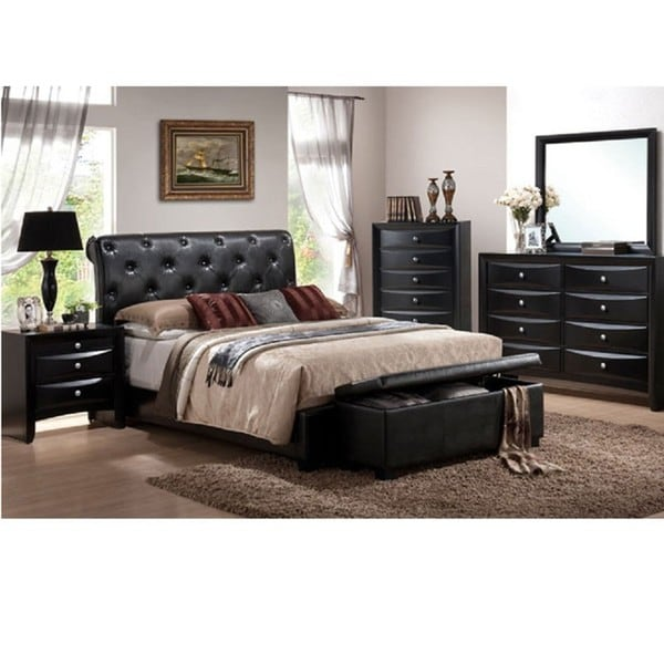 vegas 5 piece california king size bedroom set 13720880 shopping big. Black Bedroom Furniture Sets. Home Design Ideas