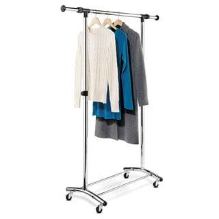 Whitmor 6021 3081 Adjustable Steel 2 Rod Garment Rack