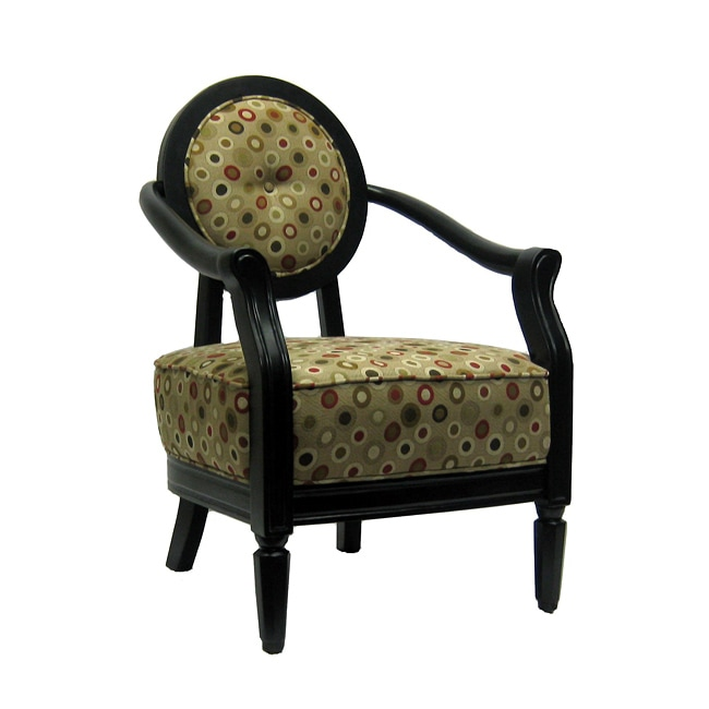 Polka Poka Dot Accent Chair 13728772 Overstock Com