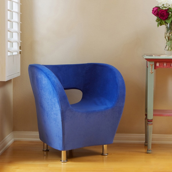 Christopher Knight Home Modern Blue Microfiber Accent