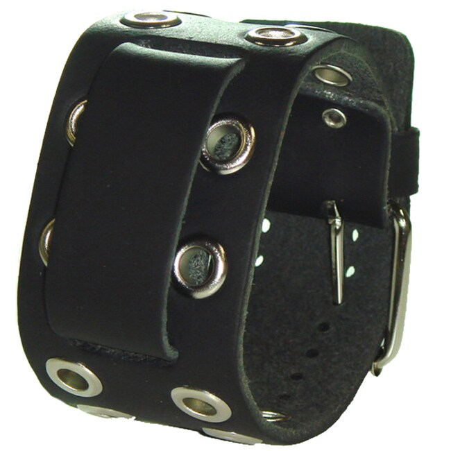 Nemesis EB Eyelet Black Leather Watch Band 13731880