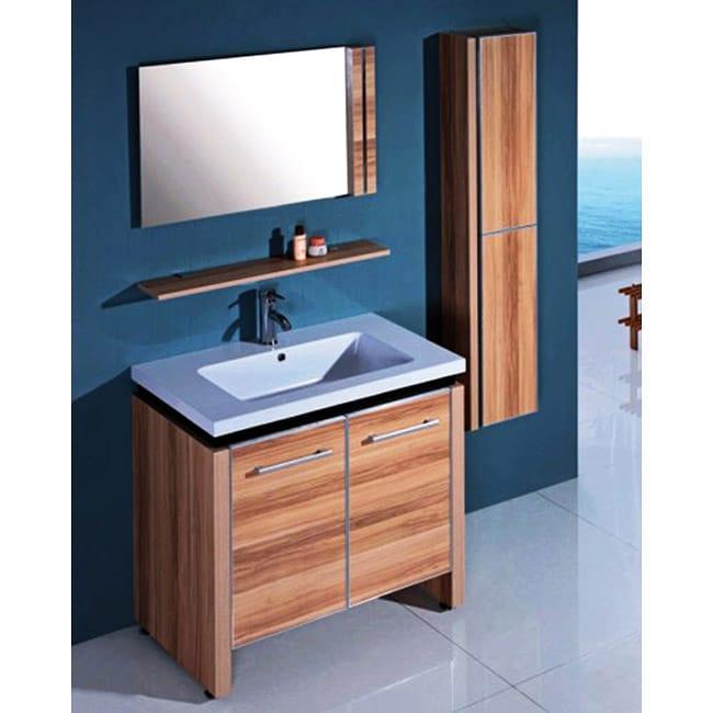 Resin 31 5 Inch Light Maple Single Sink Bathroom Vanity