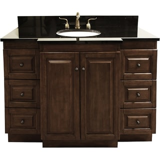 Granite Top 48 Inch Single Sink Bathroom Vanity With