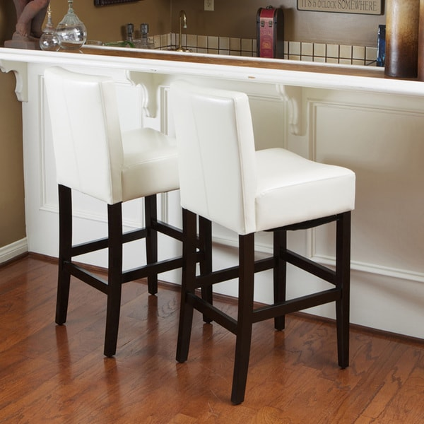 Christopher Knight Home Lopez Ivory Wood Leather Bar
