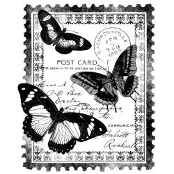 magenta cling papillion post card stamp overstock shopping big discounts on wood stamps. Black Bedroom Furniture Sets. Home Design Ideas