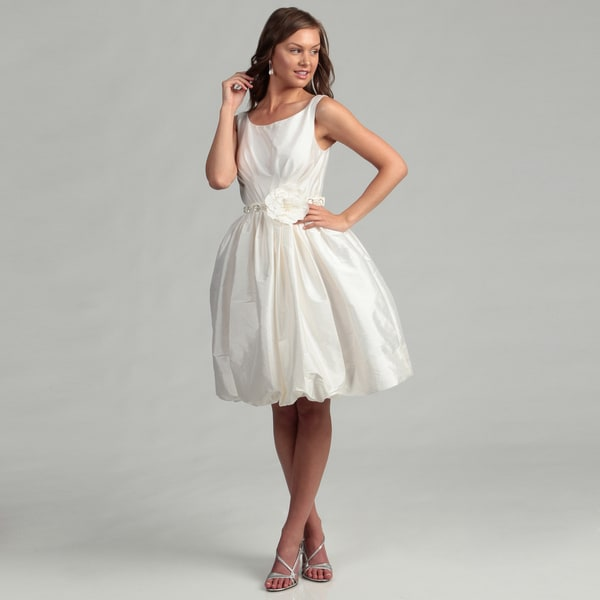 Eliza J Women's Ivory Beaded Floral Embellished Dress