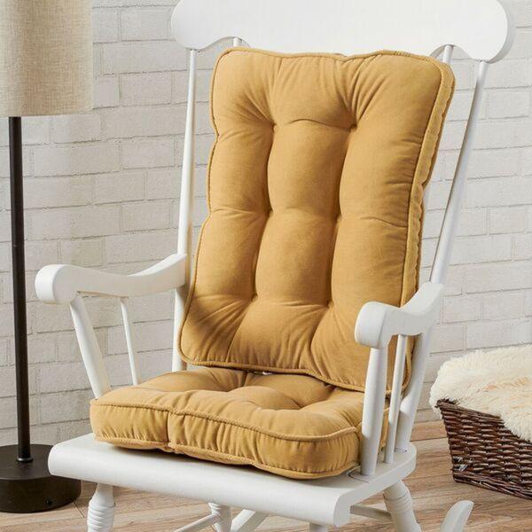 Dining Room Chair Cushions: Cream Microfiber Reversible Chair Cushion Set