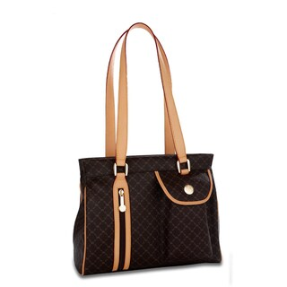 Rioni Brown Signature Shoulder Handbag Handbagviews021908