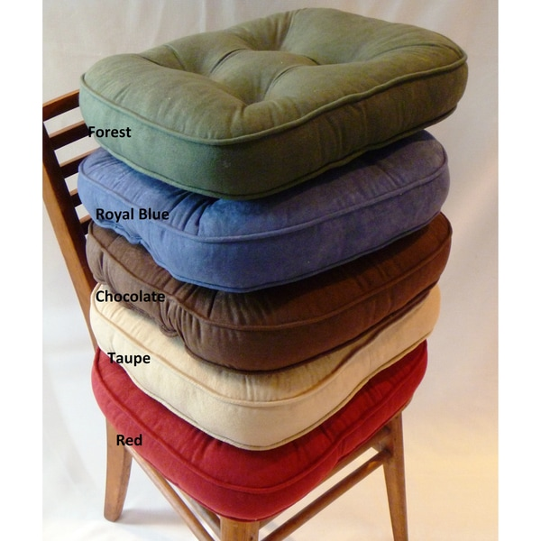 Baxter Non Slip Oversize Welted Chair Pads Set Of 4
