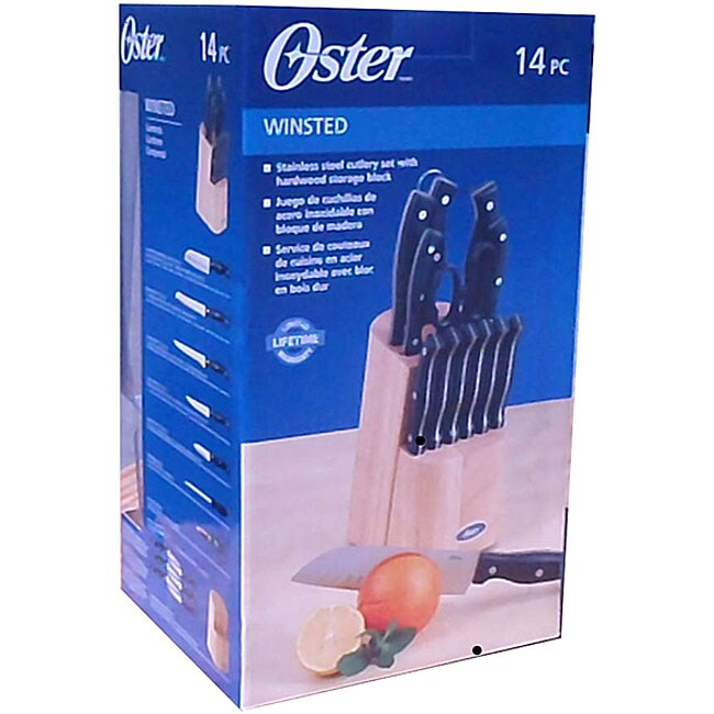 Oster Winsted 14 Piece Stainless Steel Cutlery Set