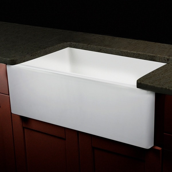Italian Fireclay  Inch Farmhouse Kitchen Sink