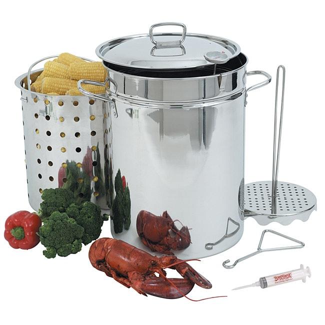 Bayou Classic 32 Qt Turkey Fryer Pot Set 13812914