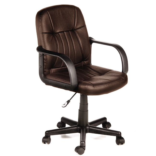 Overstock Office Furniture: Comfort Products Mid-back Leather Office Chair
