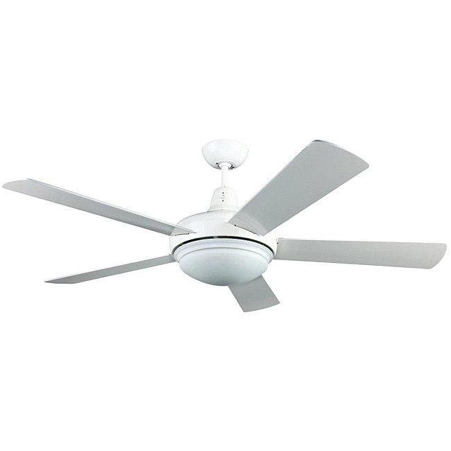 Contemporary White Two Light Ceiling Fan 13821470