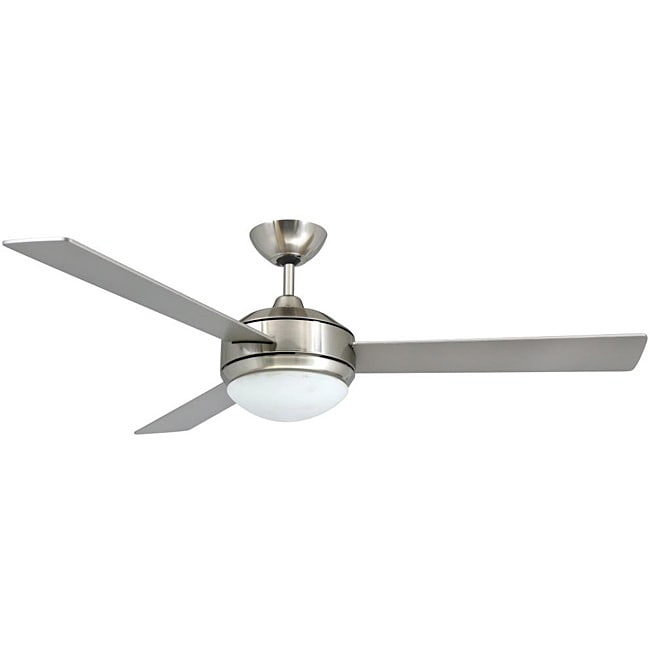 52 In Brushed Nickel 2 Light Ceiling Fan Lighting Fixture