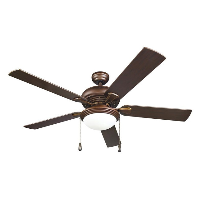 Modern Fan With Lighting Ideas For Contemporary Bedroom: Contemporary Bronze 2-light Ceiling Fan
