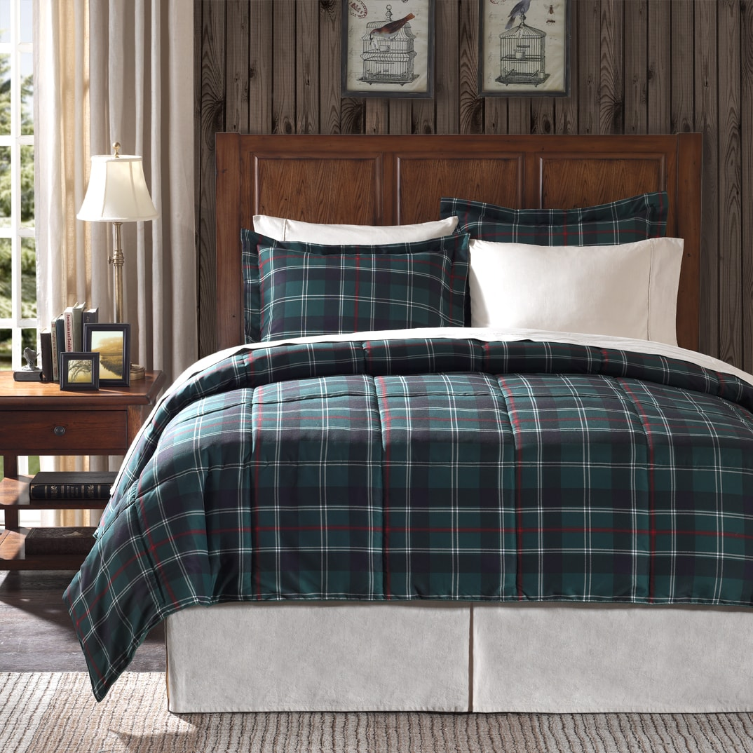 premier comfort franklin plaid twin size 2 piece down alternative comforter set 13823097. Black Bedroom Furniture Sets. Home Design Ideas