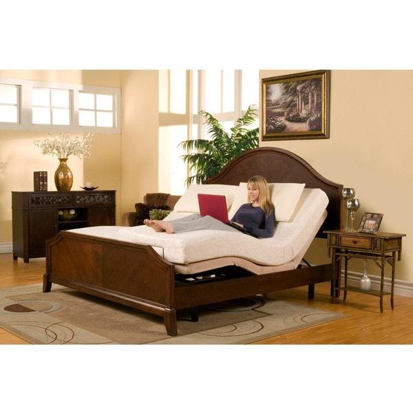 Sleep Zone Premium Adjustable Bed And 8 Inch Split King