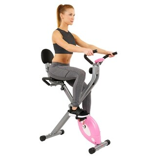 Sunny Health and Fitness SF-RB1117 Pink Folding Recumbent Bike