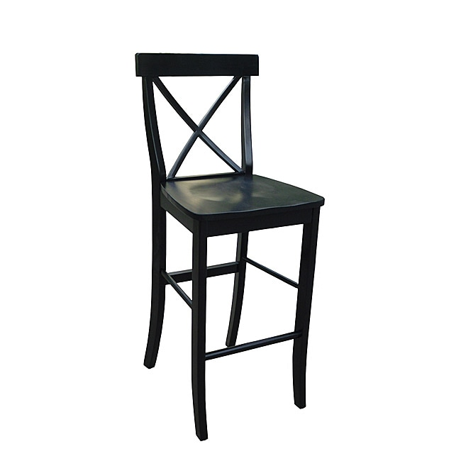 X Back Black Bar Stool 13832565 Overstock Com Shopping Great