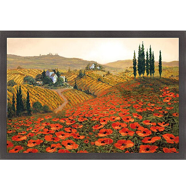 Poppy Hill Tuscan Kitchen: Steve Wynne 'Hills Of Tuscany II' Framed Print Art