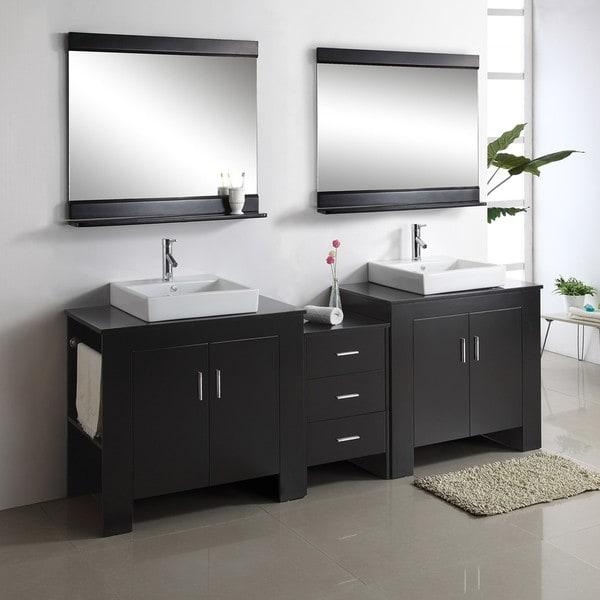Jeffrey 90-inch Double-sink Bathroom Vanity Set