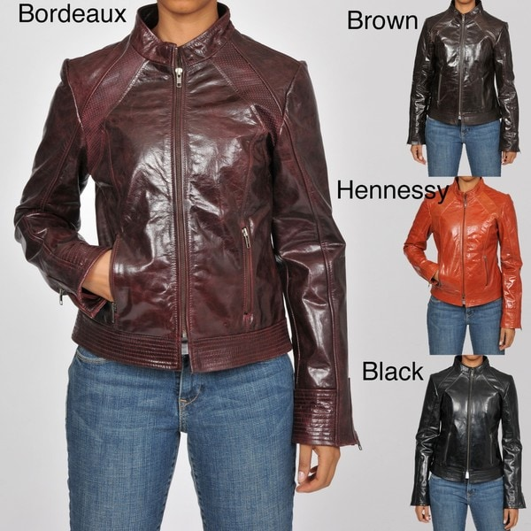 7fefa96772f Knoles   Carter Women s Plus Size Leather Perforated Moto Jacket Knoles    Carter Outerwear