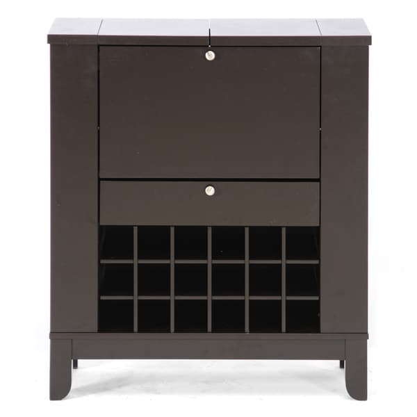 Modern Home Bar Cabinet: Modesto Brown Modern Dry Bar And Wine Cabinet