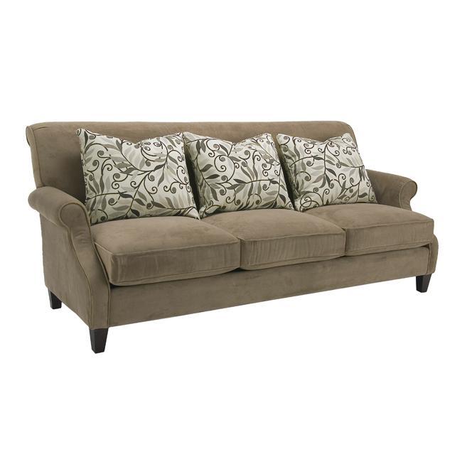 Taupe Velvet Sofa