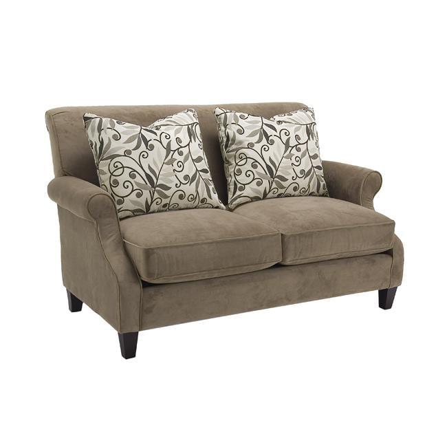 Taupe Velvet Sofa: Verona Taupe Fabric Velvet Loveseat