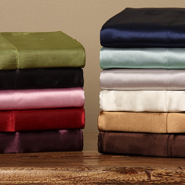 Silky Satin King California King Size 4 Piece Satin Sheet