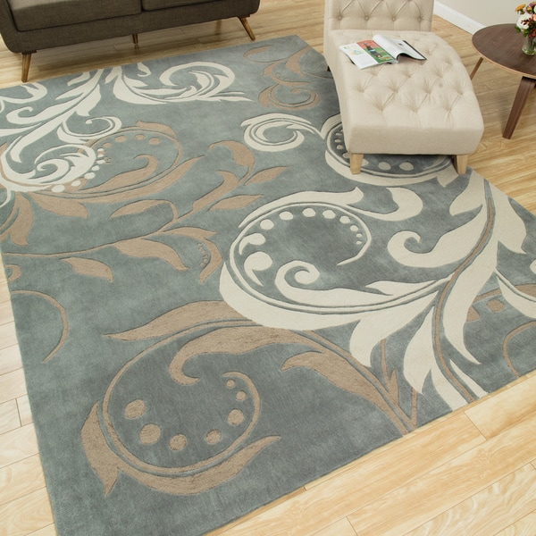 Nourison Hand Tufted Contours Silver Rug 8 X 10 6