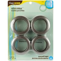 Dritz Pewter Curtain Grommets (Pack of 8)