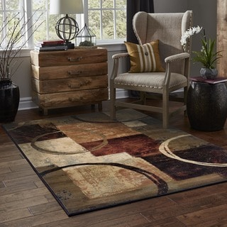 Indoor Brown Abstract Area Rug 8 2 X 10 13318853