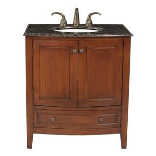 Stufurhome 32-inch Single Sink Baltic Brown Top Bathroom ...