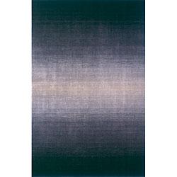 Martha Stewart Ombre Gradient Blue Wool Rug 9 X 12
