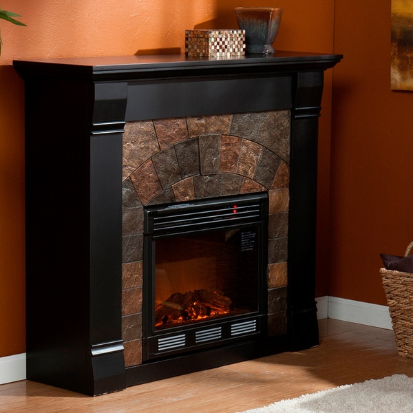 Stonegate Black Electric Fireplace 13871300 Overstock