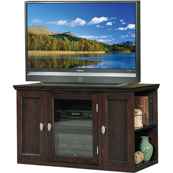 Espresso 42 Inch Bookcase Tv Stand Amp Media Console 13872885 Overstock Com Shopping Great
