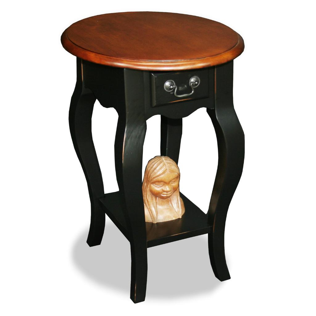 Brown Cherry Slate Oval Side Table 13872887 Overstock