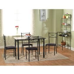 Simple Living Tiffany 6 Piece Dining Set With Bench