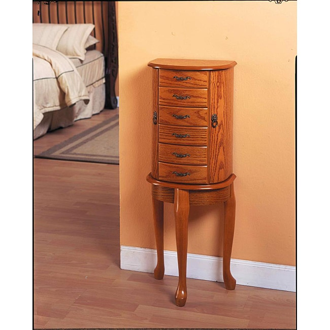 Oak Jewelry Armoire - Overstock™ Shopping - Big Discounts ...